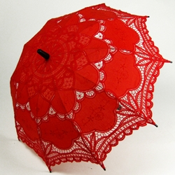 brolly red lace