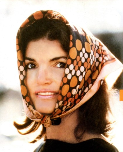 Jackie Kennedy Orange Head Scarf
