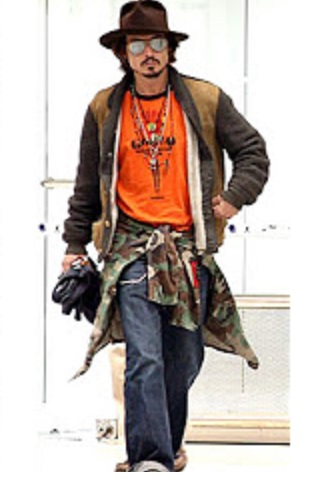 Johnny Depp Orange T-Shirt