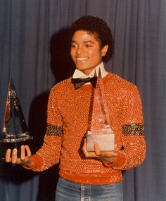 Michael Jackson Orange Sweater