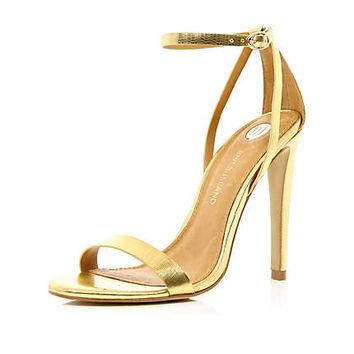 Gold Sandals Heel