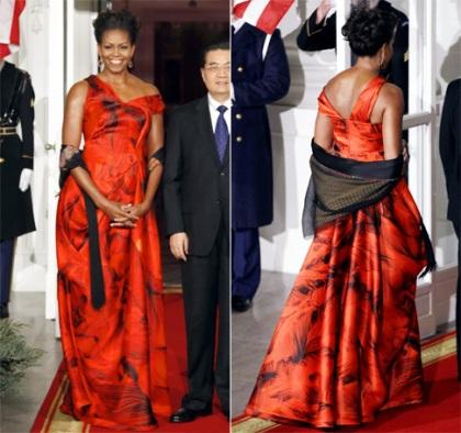 Michelle Obama Alexander McQueen 2