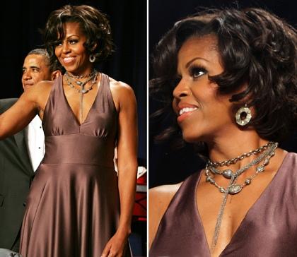 Michelle Obama Halston