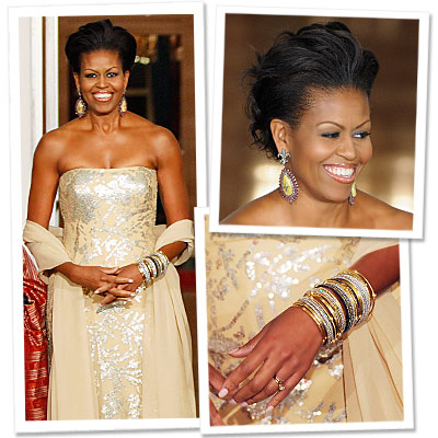 Michelle Obama Naeem Khan